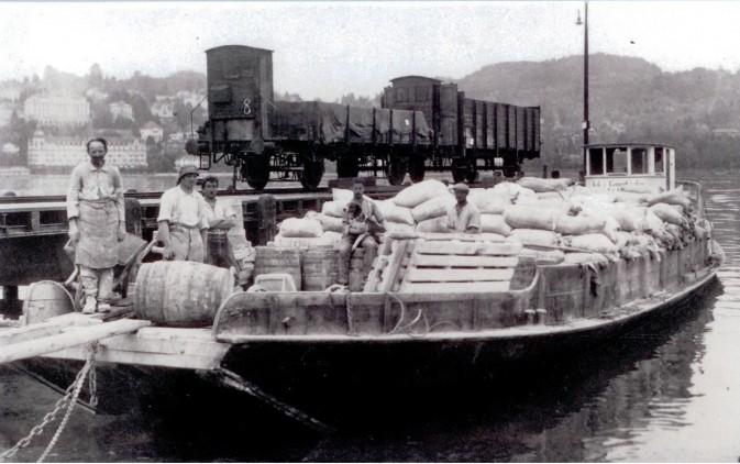 Schwalmis NW Nr 23, vor dem Untergang am Seeverlad in Luzern