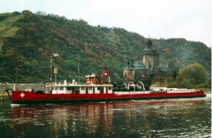 Unterwalden, Motorschleppboot (MSchl) , 4x1000 PS Sulzer, 1949 - 1972 in Basel