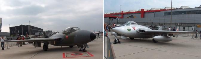 DH 115 Vampire Trainer und DH 100 Vampire (li)