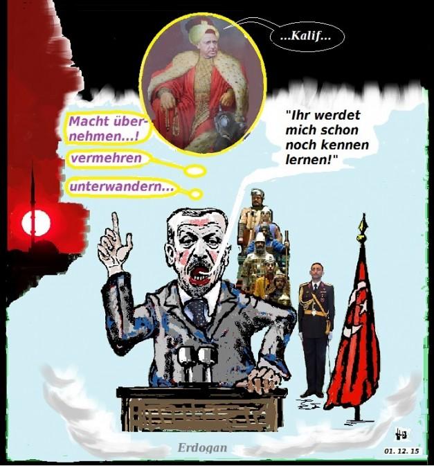 Möchtegern-Kalif Erdogan - Eroberung Europas - Bild: © H. Odermatt