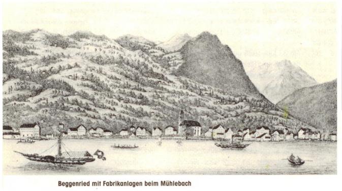 Beggenriednmit Fabrikanlagen beim Mühlenbach