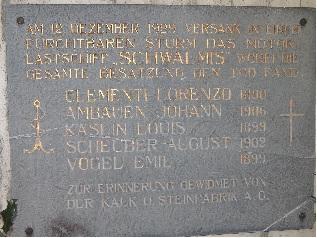 Gedenktafel Schwalmis