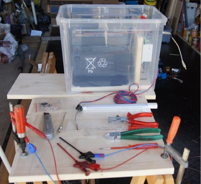 Solar Versuchsanlage, Powerbox