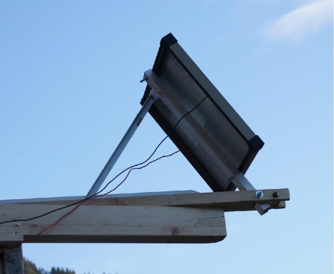 Solar Versuchsanlage5 Solarpanelmontage