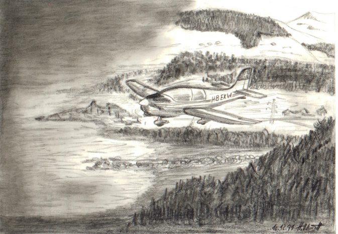 By, by Meiringen, Zeichnung und copyright Herbert Odermatt