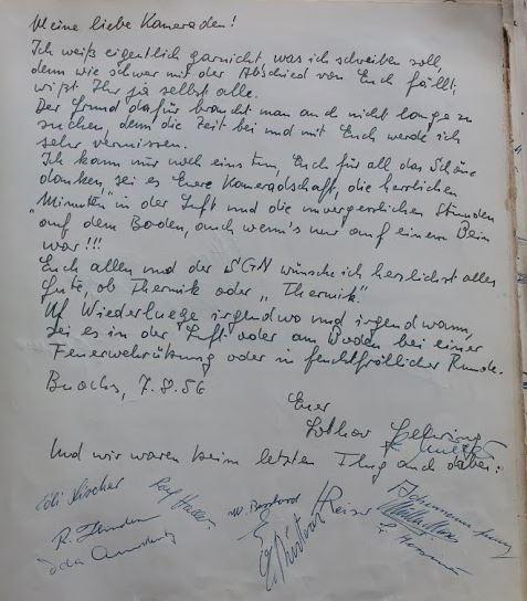 Abschied 1956, Gruppenbuch SG Nidwalden
