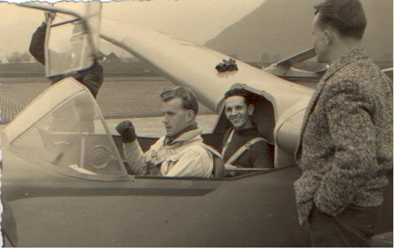 Fluglehrer Albert Thöni im Spyr Va