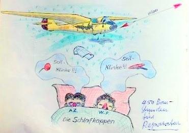 Die erwähnten Schlafmützen. Zeichnung Edi Lischer