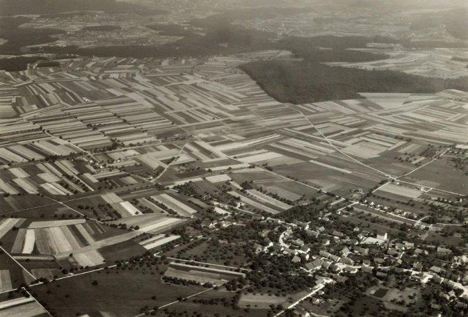 Birrfeld - Lupfig, Luftbild von 1950; Foto: René Vetterli