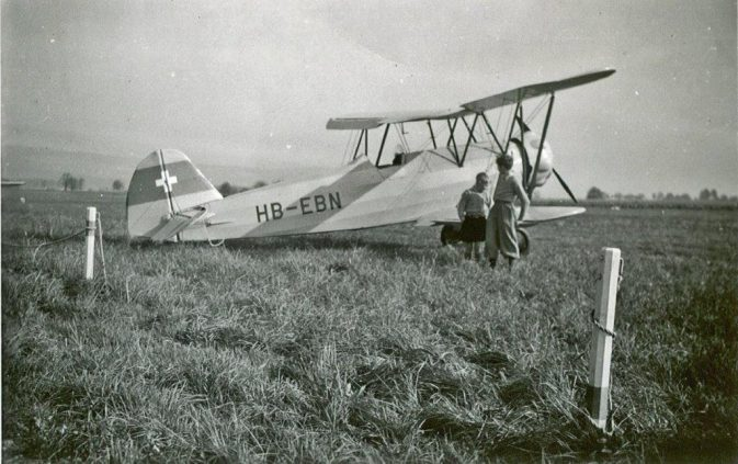 FW-44 Focke Wulf Stieglitz; der Schlepper vom Birrfeld (1956, ausgemustert 1962; Foto Renö Vetterli