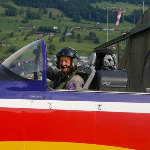 Hansueli Bütschi in Aktion, auch mit 75 noch!