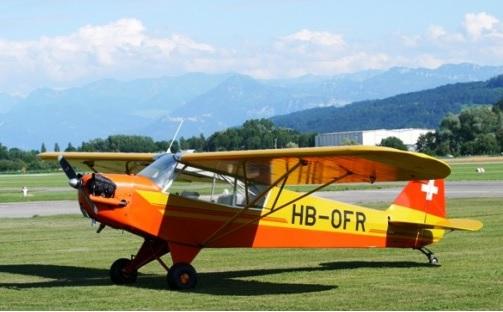 Piper J3C L4, 90 PS; Bild: Oldtimerclassic.jpg