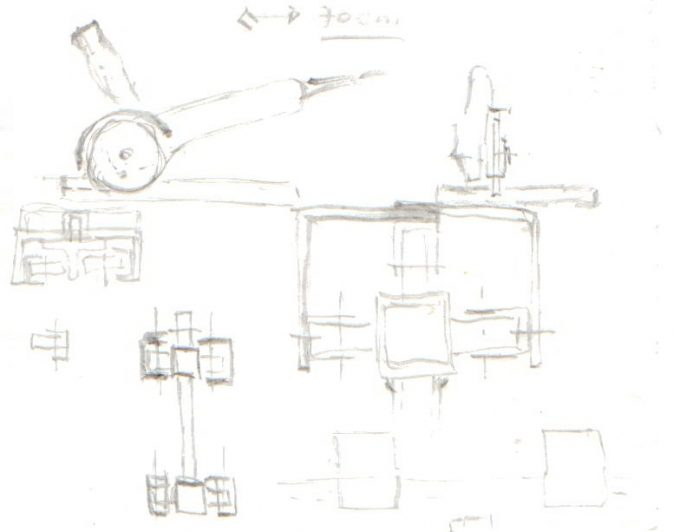 Ein Plattenscheidapparat entsteht