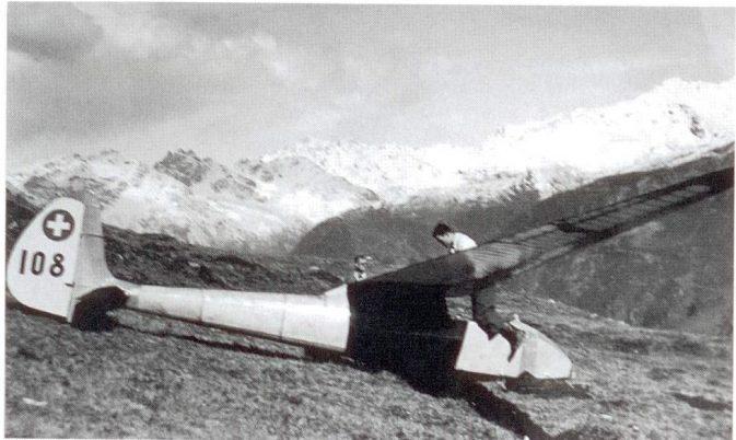 Spyr III der Zürcher Segelflieger auf Parsenn, September 1941