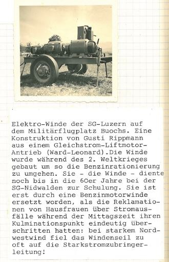 Die Elektrowinde, Eigentum der SG Luzern, eine persönliche Interpretation von Robert Sidler
