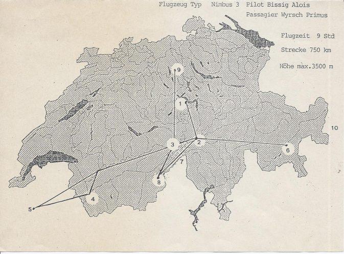 Der Plan, Streckenflug über 750 km