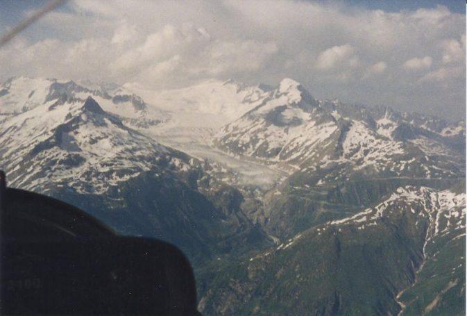 Rhonegletscher mit Furkastrasse