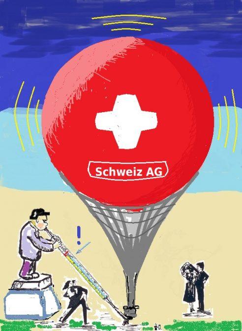 Schweiz AG - Tanz der ausländischen Kaufkraft- und Geldabschöpfern um das Goldene Kalb
